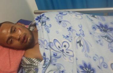 Cayetano Acosta, el herido.