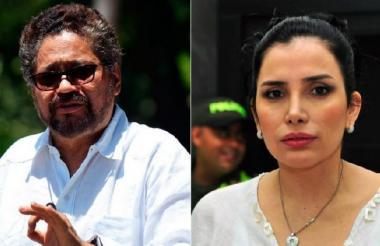 'Iván Márquez' y Aida Merlano.