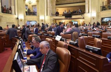 Plenaria de la Cámara de Representantes durante debate