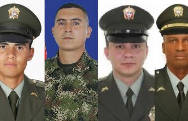 Yemison Gómez, Jesús Ramírez, Luis Torres y Wílber Rentería.