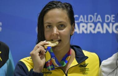 La nadadora vallecaucana Isabella Arcila fue la colombiana que más medallas de oro ganó en los Juegos.