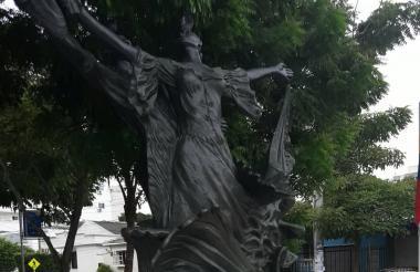 Monumento a la cumbia ubicado en el barrio Recreo.