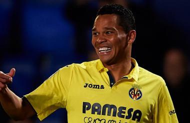 Carlos Bacca en su etapa como jugador del Villarreal.