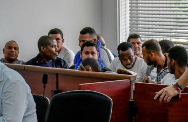 Procesados en el Centro de Servicios Judiciales ante el Juez Penal Bacrim.