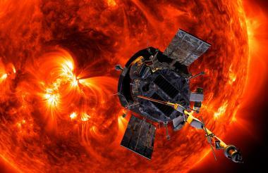 Ilustración de lo que será el acercamiento de la sonda Parker al Sol.