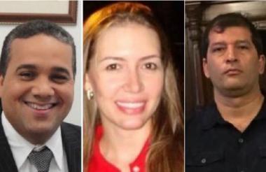 Pedrito Pereira, Roxana López y Óscar Torres.