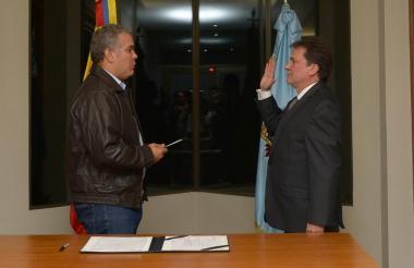 El presidente Iván Duque posesionó al nuevo director de la Ungrd, Eduardo José González.