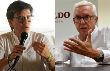 Claudia López y Jorge Robledo.