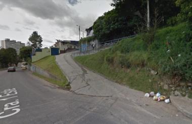 Sector del barrio La Paz, donde fue asesinado el funcionario de Banrepública.