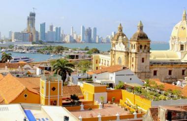 Panorámica desde el Centro Histórico de la ciudad de Cartagena.