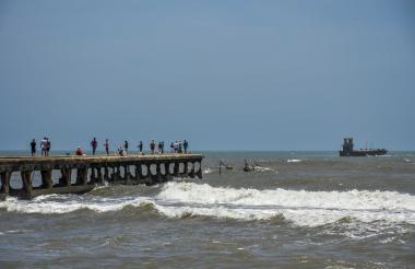 Este es el panorama que se observa en la actualidad en el histórico muelle de Puerto Colombia (Atlántico).
