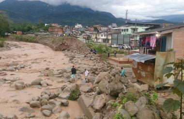 Inundaciones en Mocoa tras fuerte aguacero.
