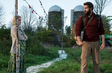 Escena del filme 'Un lugar tranquilo' en la que aparece la pareja de esposos.