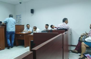 Aspecto de la audiencia de verificación de allanamiento del caso Angello Alzamora.