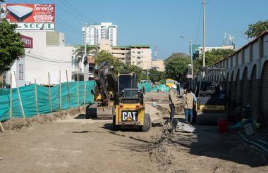 El inicio de las obras en la calle 22, arteria de gran movimiento en Santa Marta.