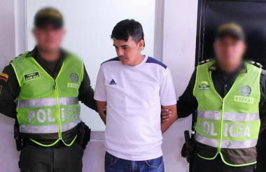 George Darío Palomino, capturado por la Policía.