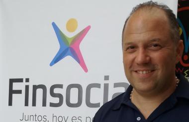 El presidente de Finsocial, Santiago Botero.