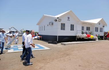 Estación de Guardacostas, en Puerto Velero.