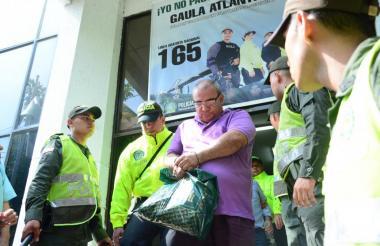 El inspector de policía Francisco Sanabria, luego de su captura.