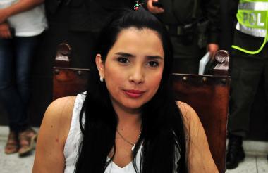 Aida Merlano, detenida e investigada penalmente por el caso 'Casa Blanca'.