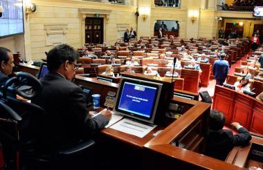 Aspecto de la reunión de comisiones conjuntas del Congreso efectuada este martes.