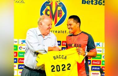 Bacca durante su presentación ayer con el Villarreal.
