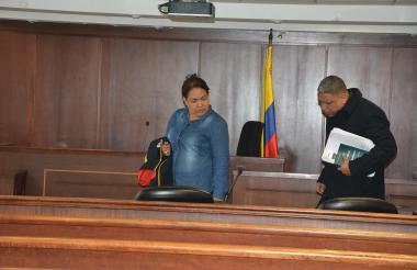 Sara Luz y Carlos Jiménez, privados de la libertad en la ciudad de Bogotá.