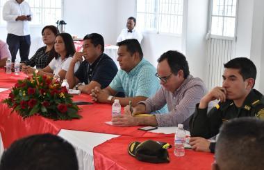 Aspecto del consejo de seguridad realizado en Malambo.