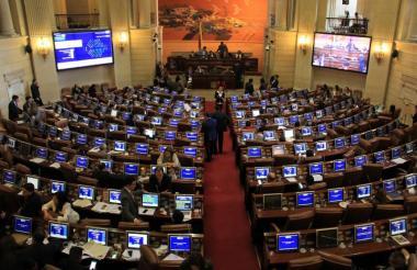 Vista de una plenaria del Congreso de la República.