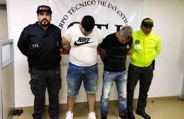 Los presuntos asesinos del líder social.