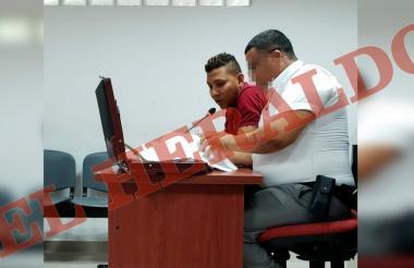 Armando Castro Maldonado en las audiencias que se realizan en Soledad.