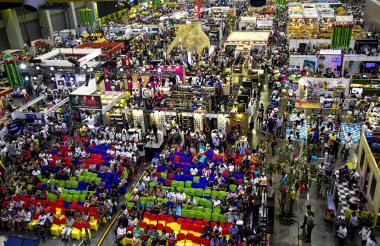 Vista del Puerta de Oro, Centro de Eventos del Caribe, donde se realiza Sabor Barranquilla 2018.