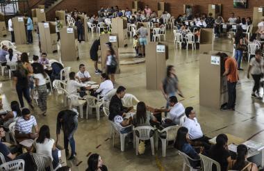El mayor número de votantes se concentró en Corferias, en Bogotá.