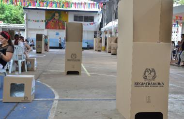 Zonas de votación completamente vacías en las instituciones educativas de Valledupar.