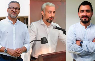 Alberto Martínez, Alfredo Ramírez y Diemer Lascarro.