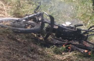 Estado del vehículo tras la explosión.