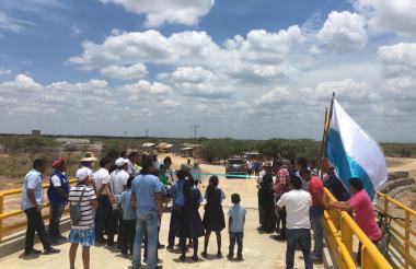 La apertura del puente fue una celebración en este corregimiento de Manaure.