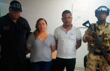 May William Camargo Martínez, alias el Negrito y su pareja, Maryuri Amaya Ramírez, alias la Mona, capturados.