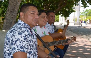 Elías Villanueva, Hugo Estrada y Ubaldo Martínez.