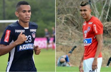 Luis Díaz y Víctor Cantillo, jugadores de Junior.
