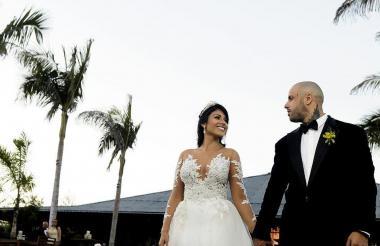 La pareja en su matrimonio.