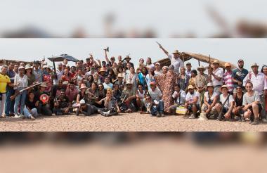 Detrás de cámaras del rodaje la película colombiana 'Pájaros de Verano'.
