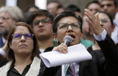 Claudia López, exsenadora y promotora de la Consulta Anticorrupción.