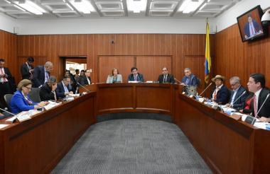 Aspecto del debate a Electricaribe en la Comisión de Ordenamiento Territorial del Senado.