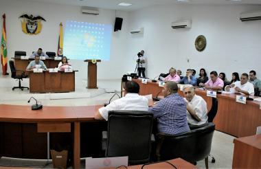 Sesión plenaria del Concejo Distrital durante la que se debatieron cuatro proyectos.