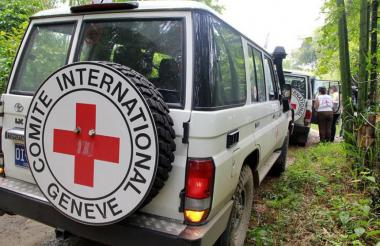 Vehículos del Comité Internacional de la Cruz Roja.