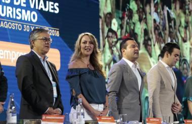 Aspecto de la inauguración del  XXIII Congreso Nacional de la Asociación Colombiana de Agencias de Viajes y Turismo en Bucaramanga.