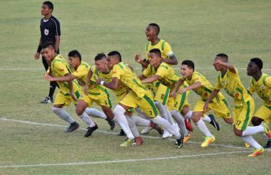 Caldas celebra su paso a la final, luego de vencer por penales (4-2) a Atlántico.
