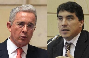 Álvaro Uribe y Álvaro Hernán Prada.