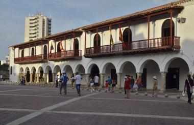 Fachada de la sede de la Alcaldía de Cartagena.